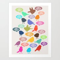 Birdsong Gosh Quotes By … Art Print