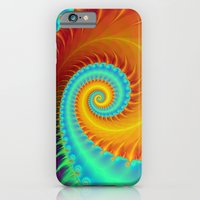 Toothed Spiral In Turquo… iPhone 6 Slim Case