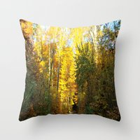 Forest In November Throw Pillow