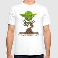 Bonsai Yoda Mens Fitted Tee White SMALL