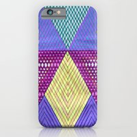 iPhone & iPod Case featuring Isometric Harlequin #9 by KATE KOSEK