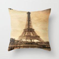 Vintage Eiffel Tower 2 Throw Pillow