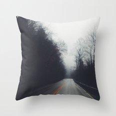 Quiet Drive Throw Pillow