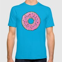 Doughnut Mens Fitted Tee Teal SMALL