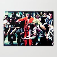 Zombie Walk Canvas Print
