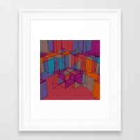 Cube Geometric I Framed Art Print