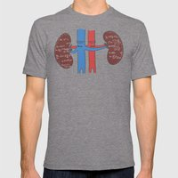 Renal Calculus Mens Fitted Tee Tri-Grey SMALL