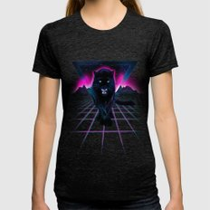 Jaguar Poster Womens Fitted Tee Tri-Black SMALL