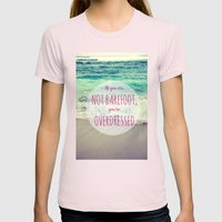 Barefoot Summer Womens Fitted Tee Light Pink SMALL