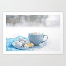 Enjoy the winter! Art Print
