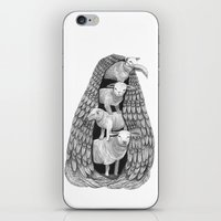Stack Of Sheep- Feathere… iPhone & iPod Skin