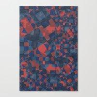 Blue Tile Canvas Print