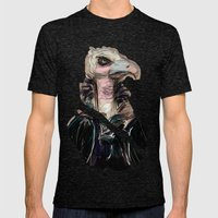 The Vulture Mens Fitted Tee Tri-Black SMALL