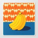 Fruit with Wallpaper (banana) Canvas Print