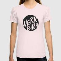 WERK Womens Fitted Tee Light Pink SMALL