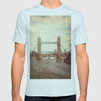 Tower Bridge 2 Mens Fitted Tee Light Blue SMALL