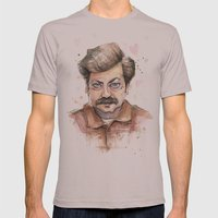 Swanson Love Valentine P… Mens Fitted Tee Cinder SMALL