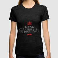 The King  Womens Fitted Tee Tri-Black SMALL
