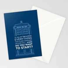 Doctor Who - TARDIS Where Do You Want to Start Stationery Cards