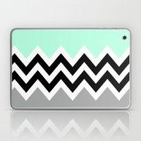 DOUBLE COLORBLOCK CHEVRON {MINT/BLACK/GRAY} Laptop & iPad Skin