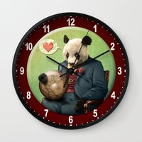 Wise Panda: Love Makes T… Wall Clock