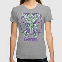 Deco Gemini Womens Fitted Tee Tri-Grey SMALL