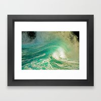 WAVE JOY Framed Art Print