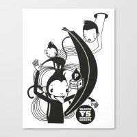WARREN VS MONKEY BANANA Canvas Print