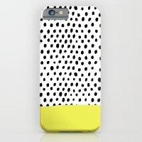 iPhone Cases featuring Polka dot rain dip by Maiko Nagao