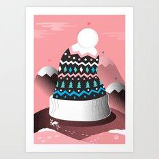 Mount Pom-Pom Art Print