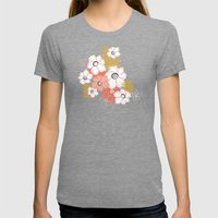Petals & Pods - Sorbet Womens Fitted Tee Tri-Grey SMALL