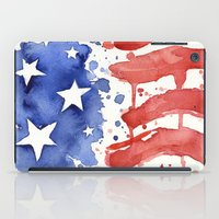 American Flag Watercolor 'Merica! iPad Case