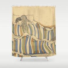 Ocean of love Shower Curtain