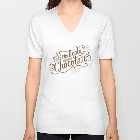 Chocolate RX V-neck T-shirt