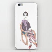 girl in a chair iPhone & iPod Skin