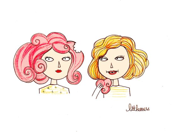 we kept eating each other's hair all the time because they were marshmallow. Art Print