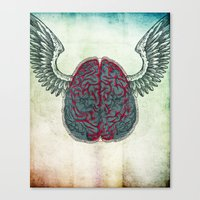 The brain's image Canvas Print