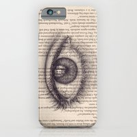 iPhone & iPod Case featuring Eye in a Book by Sarah Sutherland