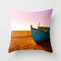Sailing The Sand Throw Pillow