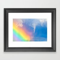 Colors And Turbulence Framed Art Print