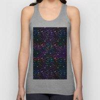 Midnight Rainbow Glitter Unisex Tank Top
