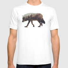 Norwegian Woods: The Wolf SMALL Mens Fitted Tee White