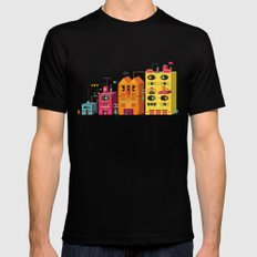 Buildings SMALL Black Mens Fitted Tee