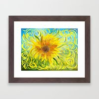 Sunflower Symphony Framed Art Print
