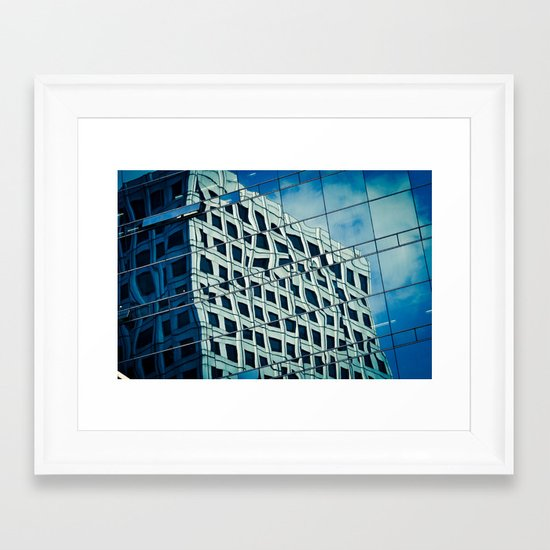 Building Reflections Framed Art Print