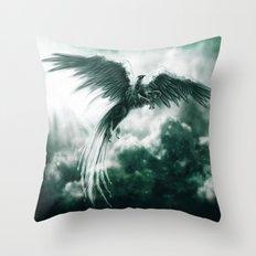 Jade Griffin Throw Pillow