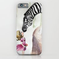 iPhone & iPod Case featuring Zebra Love by Jiaxi Huang