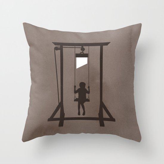 Swing Blade Throw Pillow