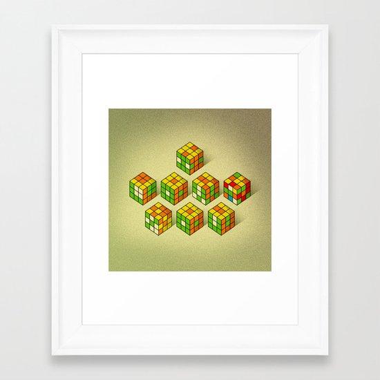 I lov? you Framed Art Print