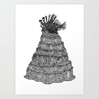 The Lionfish Village Art Print